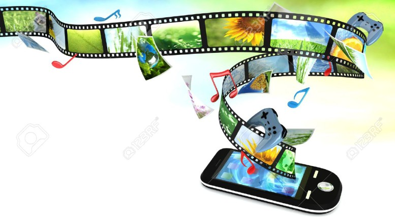 9343665-Smartphone-with-photos-video-music-and-games-Stock-Photo-gaming