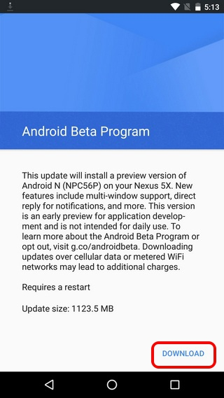 Android-N-Preview-Download