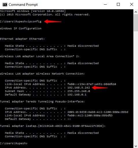 Command-Prompt-IP-address
