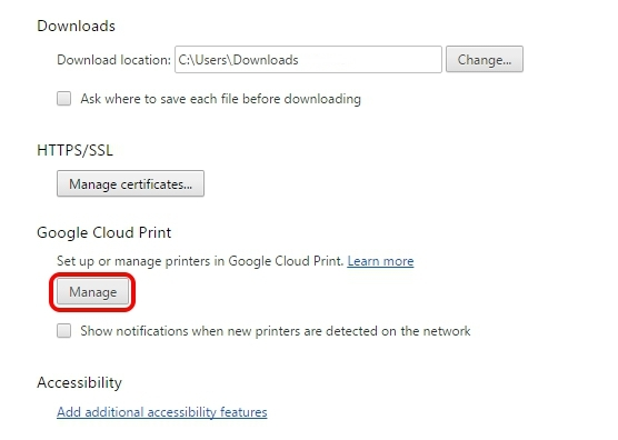 Google-Cloud-Print-Chrome-Settings