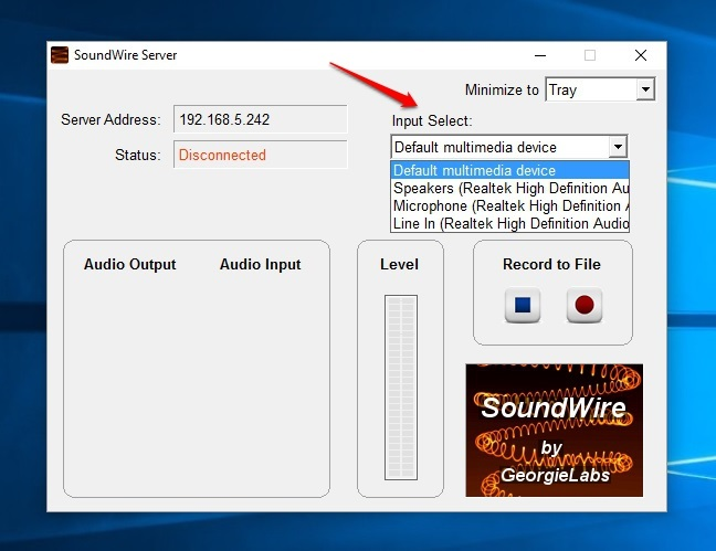 SoundWire-Server-Input-Select