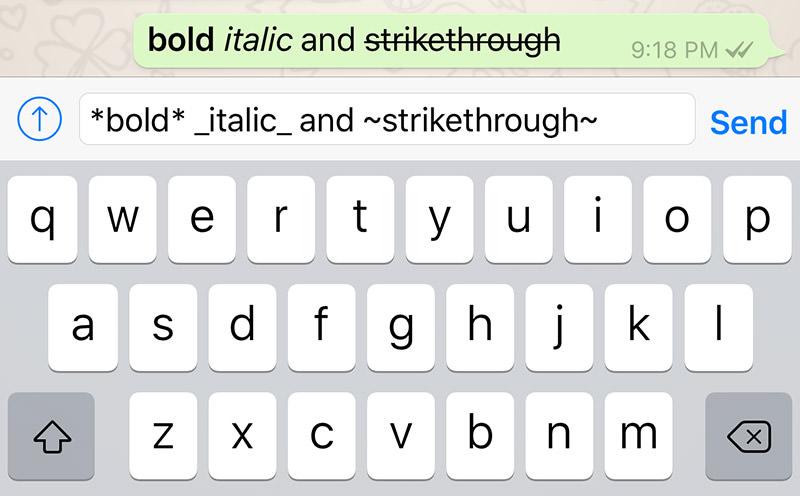 comment obtenir gras  italique barr u00e9 sur votre whatsapp
