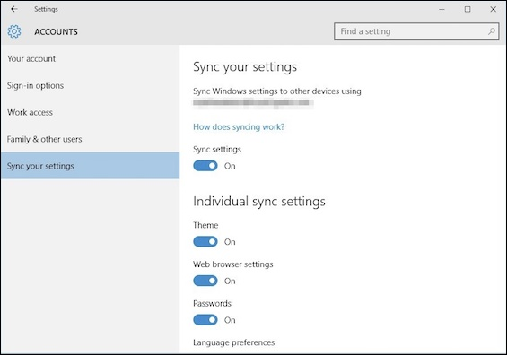 Customize-the-Sync-Settings