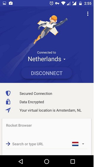 Rocket-VPN-Android-app