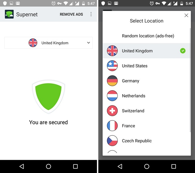 Supernet-VPN-Android-app