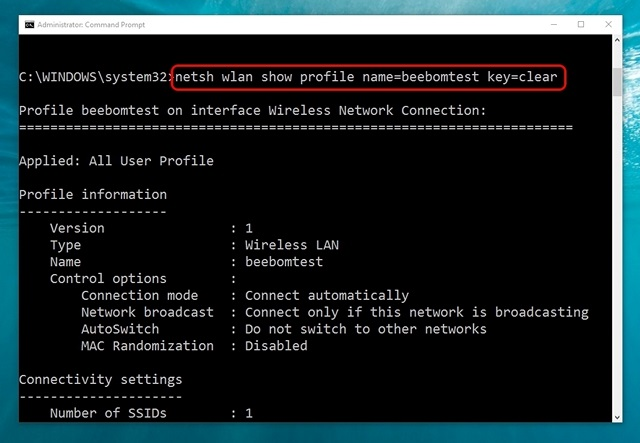 Windows-10-command-get-WiFi-network-details