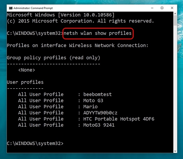 Windows-10-command-show-all-WiFi-networks