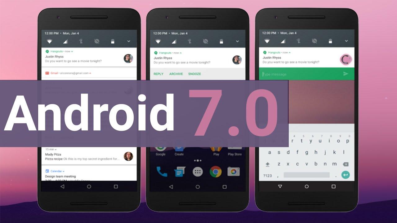 نتيجة بحث الصور عن android 7.0