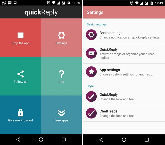 quickReply-App-Android