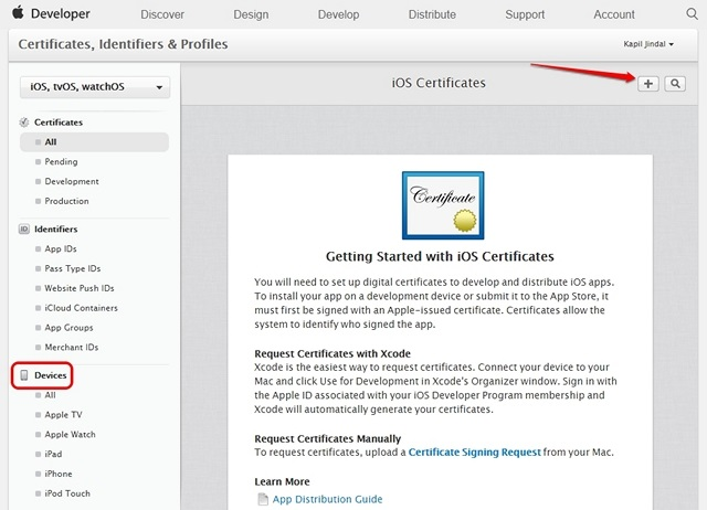 Apple-Developer-device-certificates