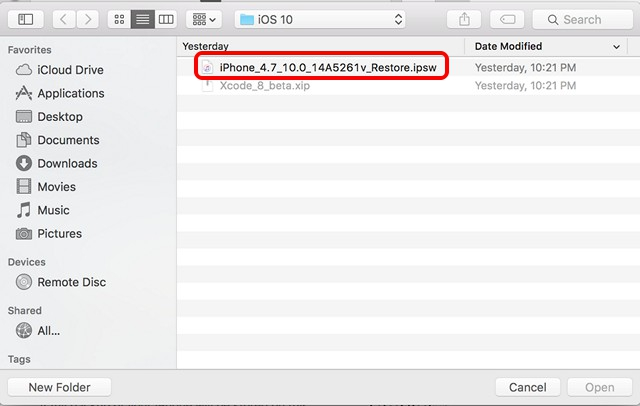 iOS-10-beta-restore-image-install