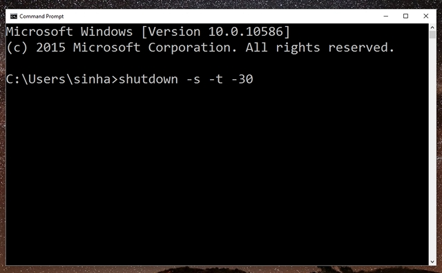 Auto-shutdown-Windows-10-command-prompt