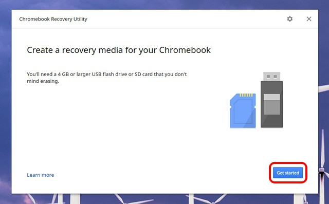 Chromebook-Recovery-Utility-start