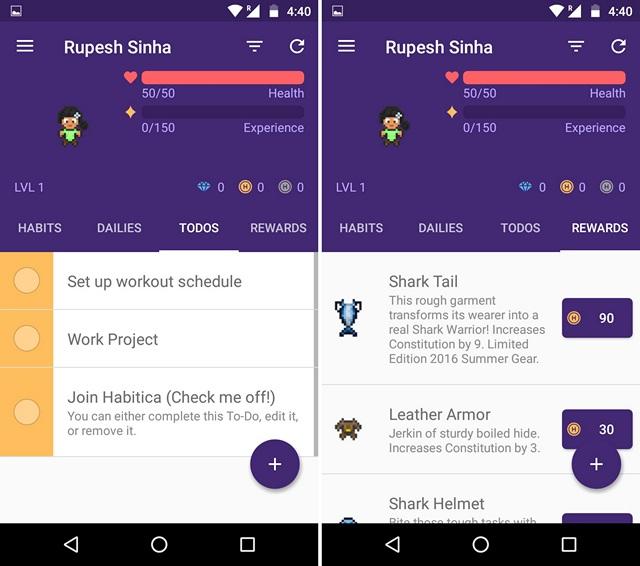Habitica-motivation-app