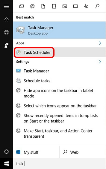 Search-Task-Scheduler