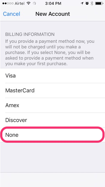 new-apple-id-step-two