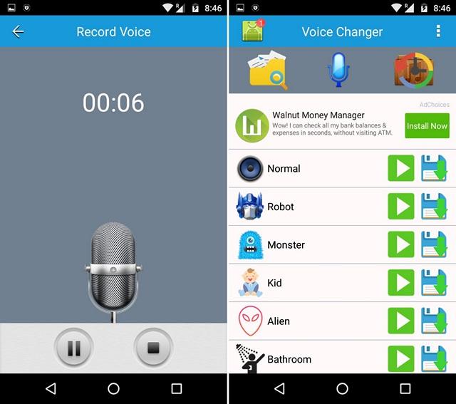 les 6 meilleures applications du changeur de voix pour android et ios info24android. Black Bedroom Furniture Sets. Home Design Ideas