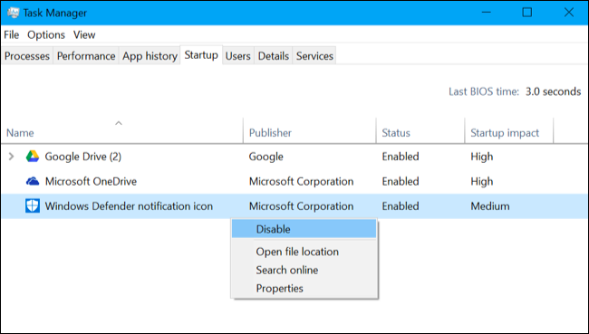 Comment faire pour supprimer l'icône Windows Defender 2