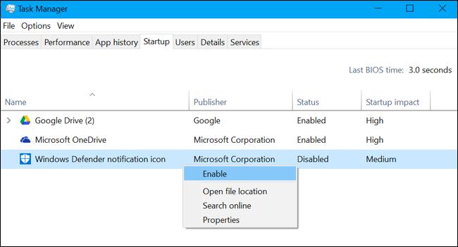 Comment faire pour supprimer l'icône Windows Defender 4