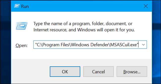 Comment faire pour supprimer l'icône Windows Defender 5
