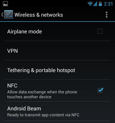 Comment faire pour utiliser Android Beam pour transférer sans fil 2
