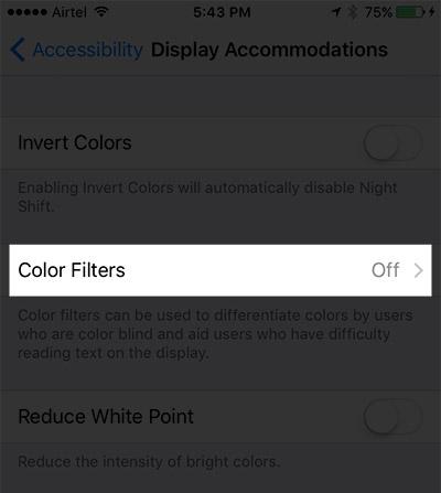 Comment utiliser les filtres de couleur dans iOS 10 sur iPhone ou iPad 4