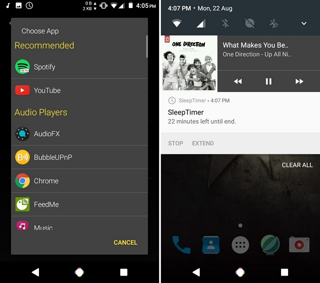 Control-Sleep-Timer-notification-Android