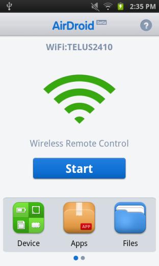 Controlez votre Android à partir d'un navigateur avec AirDroid
