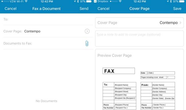Fax un document à partir de votre Smartphone