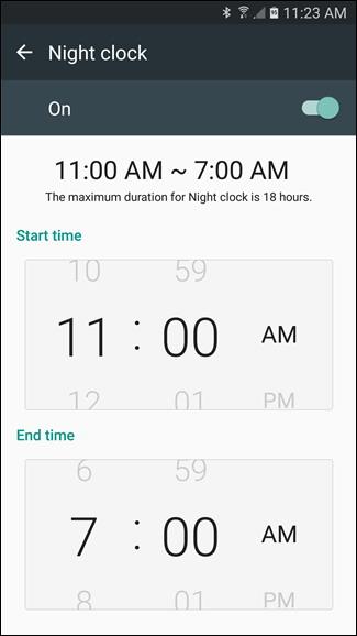 Mettre en place Night Clock de Samsung sur les appareils Bord Galaxy 4