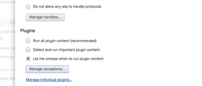 activer Click-to-Play Plugins dans tous les navigateurs Web 2