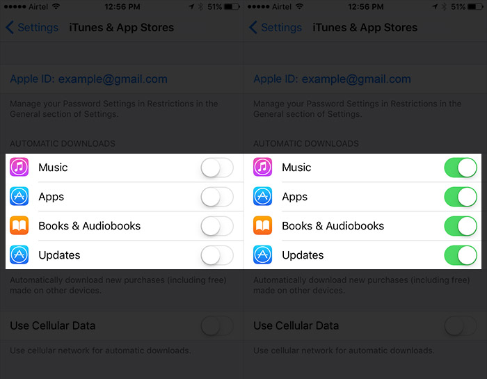 activer automatiques Téléchargements App Sur iPhone 3