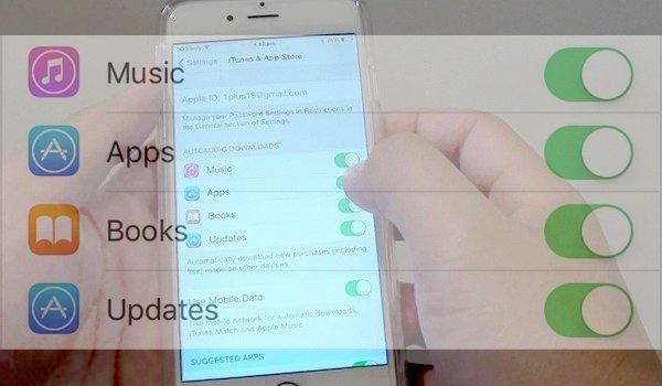 activer automatiques Téléchargements App Sur iPhone