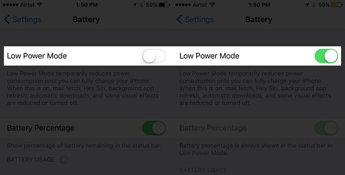 améliorer iOS 10 Autonomie de la batterie 6
