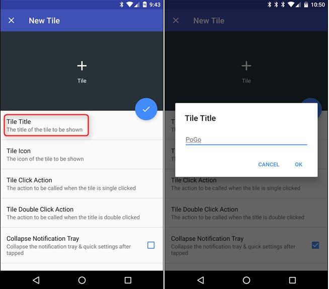 créer sur mesure Tiles pour Quick Settings Menu Android 8