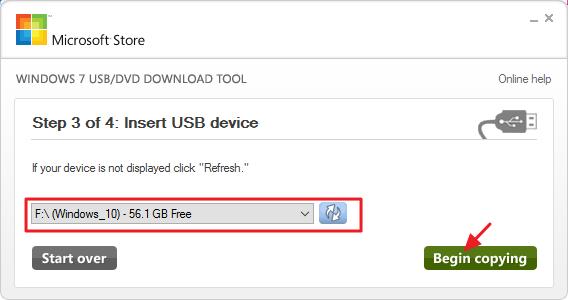 créer une clé USB d'installation pour Windows 10, 8 ou 7 -4