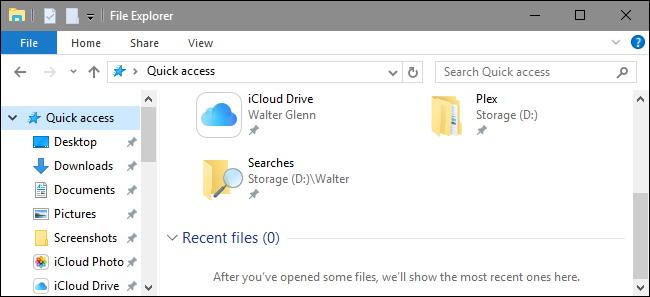 effacer votre Explorateur de fichiers Fichiers récents Historique dans Windows 10 3