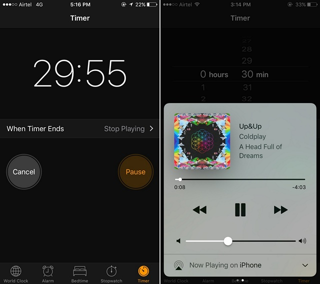 iOS-start-sleep-timer-for-music