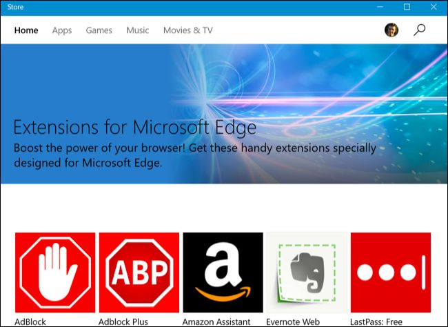 installer les extensions dans Microsoft bord 2