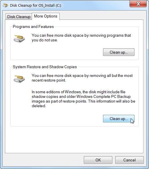 libérer l'espace disque dur Sous Windows 4