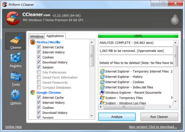 libérer l'espace disque dur Sous Windows 8
