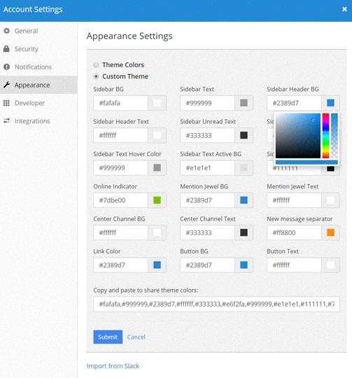 linux-messengers-mattermost-settings