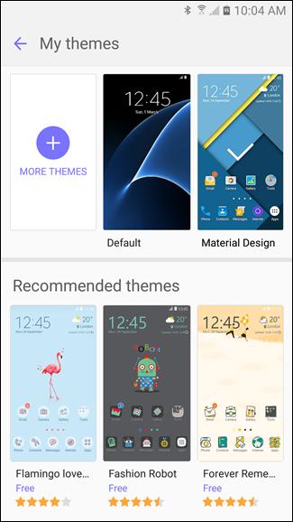 modifier les thèmes sur les dispositifs Samsung Galaxy  3