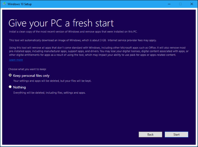 réinstaller facilement de Windows 10 Sans le Bloatware 3