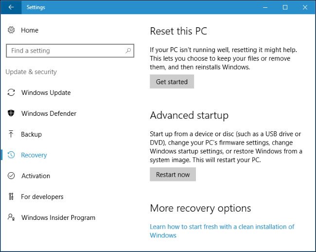 réinstaller facilement de Windows 10 Sans le Bloatware