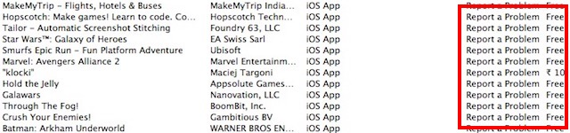 report-a-problem-app-list