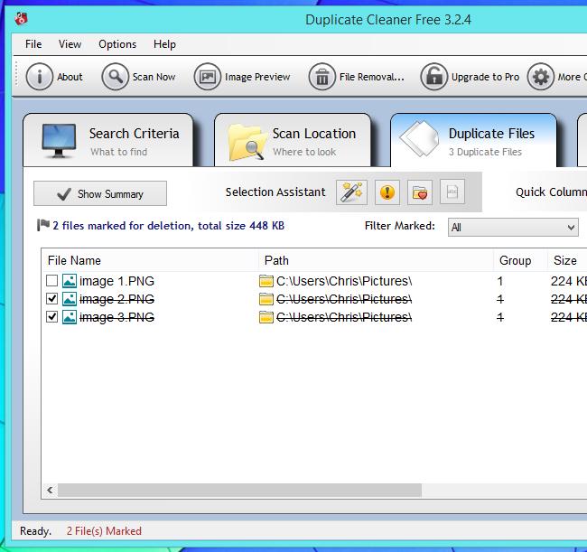 supprimer les fichiers en double sur Windows 2