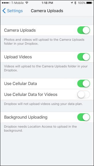 télécharger automatiquement les photos de votre téléphone à Dropbox 9
