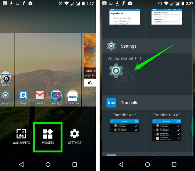 Android-Settings-Widget