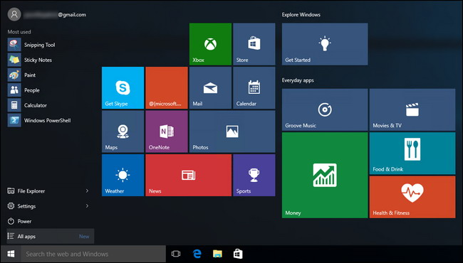 Apportez Le menu Démarrer de Windows 7 vers Windows 10 -1